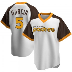 Youth Greg Garcia San Diego Padres Replica White Home Cooperstown Collection Jersey