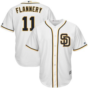 Youth Majestic Tim Flannery San Diego Padres Authentic White Cool Base Alternate Jersey