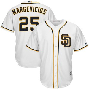 Youth Majestic Nick Margevicius San Diego Padres Authentic White Cool Base Alternate Jersey