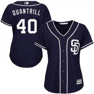 Women's Majestic Cal Quantrill San Diego Padres Replica Navy Cool Base Alternate Jersey