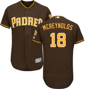 Youth Majestic Kevin Mcreynolds San Diego Padres Authentic Brown Cool Base Alternate Jersey