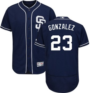 Youth Majestic Adrian Gonzalez San Diego Padres Authentic Navy Flex Base Alternate Collection Jersey