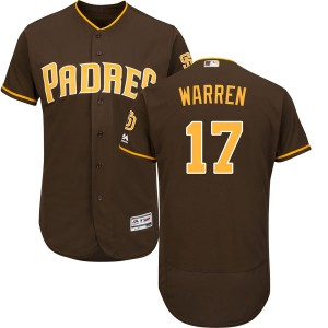 Youth Majestic Adam Warren San Diego Padres Replica Brown Cool Base Alternate Jersey