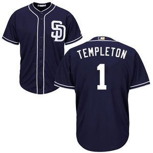 Youth Majestic Garry Templeton San Diego Padres Authentic Navy Cool Base Alternate Jersey