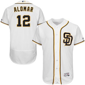 Youth Majestic Roberto Alomar San Diego Padres Authentic White Flex Base Alternate Collection Jersey