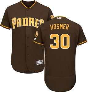 Men's Majestic Eric Hosmer San Diego Padres Player Authentic Brown Cool Base Alternate Jersey
