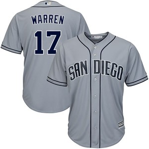 Men's Majestic Adam Warren San Diego Padres Authentic Gray Cool Base Road Jersey